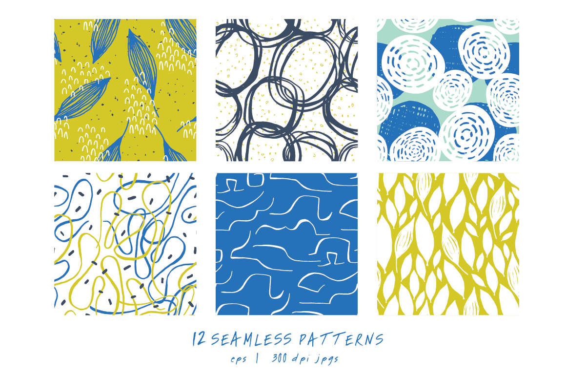Modern Leaves Seamless Patterns