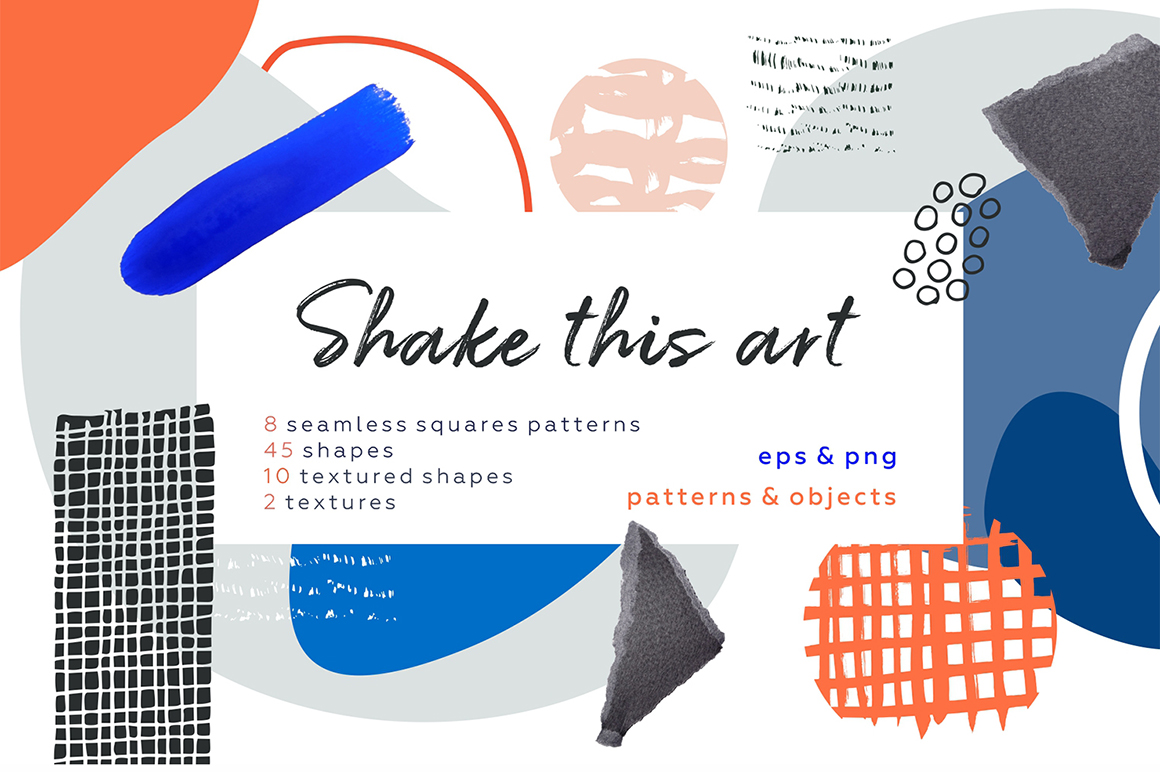 Shake This Art - Collage Pattern Set