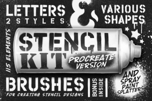 Stencil-Kit-Procreate-Brushes-cover