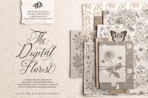 The-Digital-Florist-Vintage-Inspired-Botanicals-cover