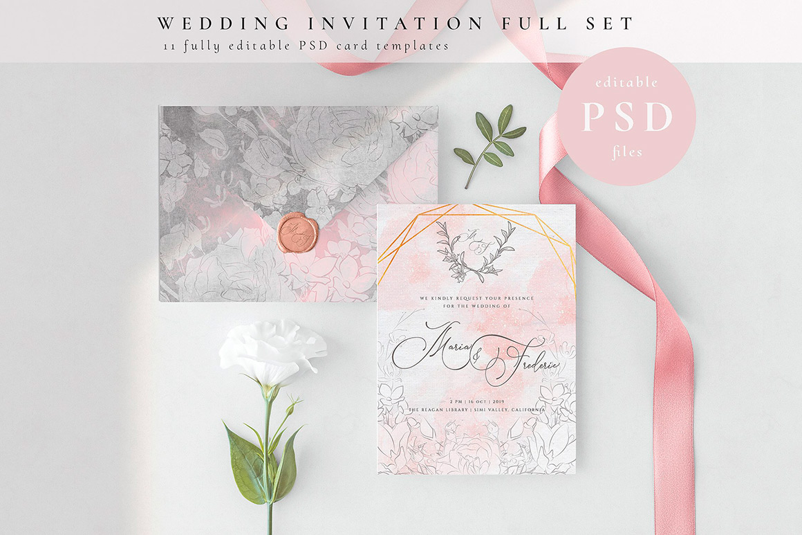 Wedding Invitation Cards Full Set