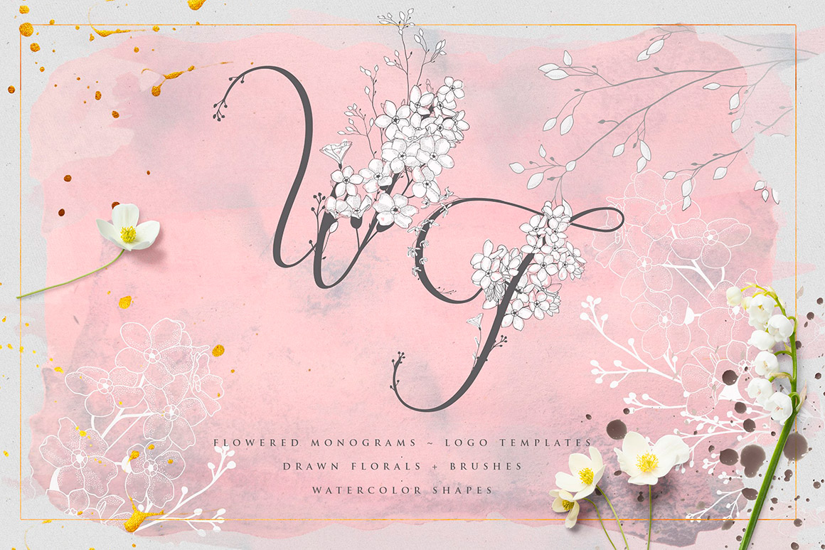 Wonder Flowers -Monograms & Logos