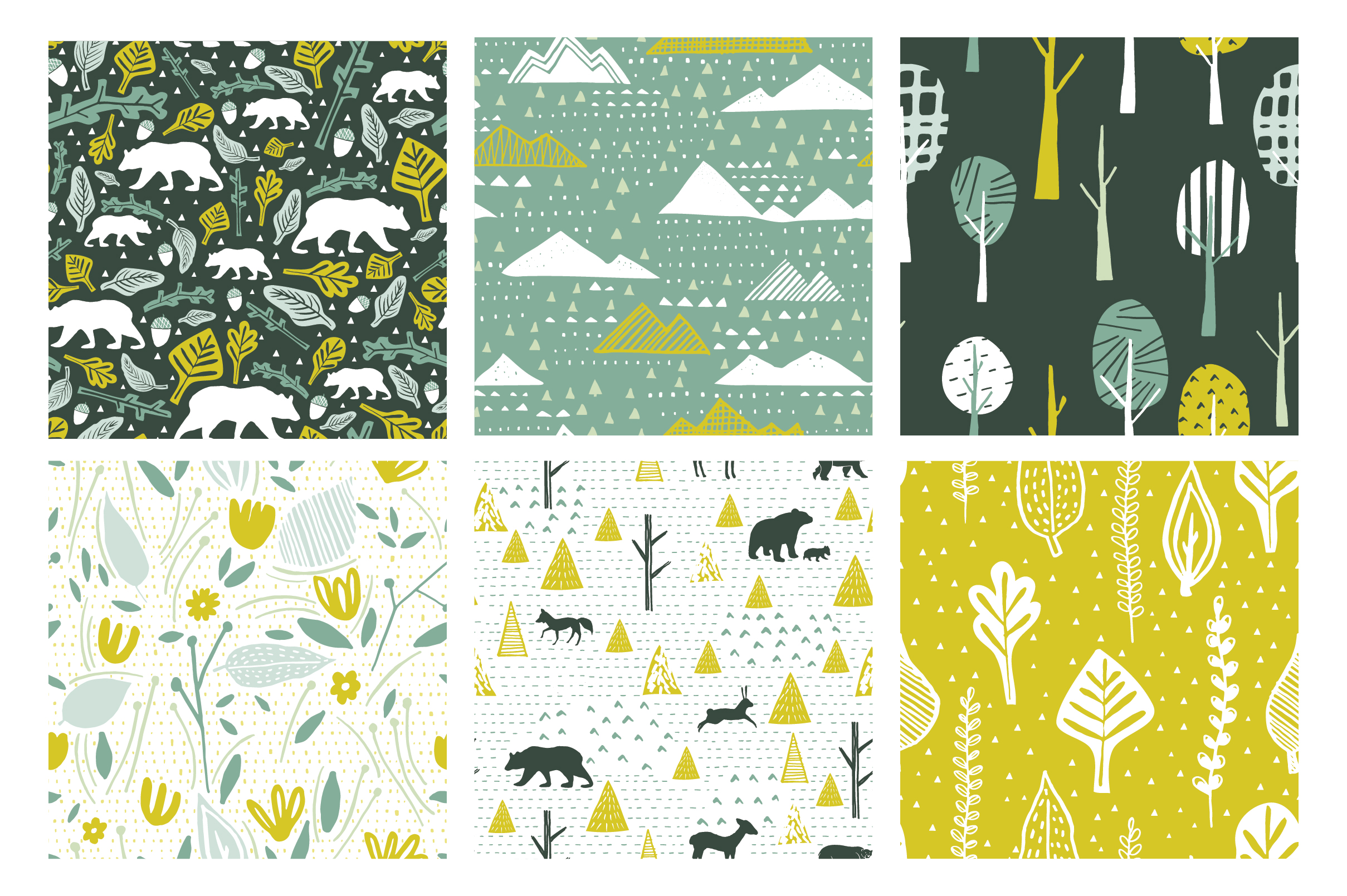 Woodlands Seamless Patterns