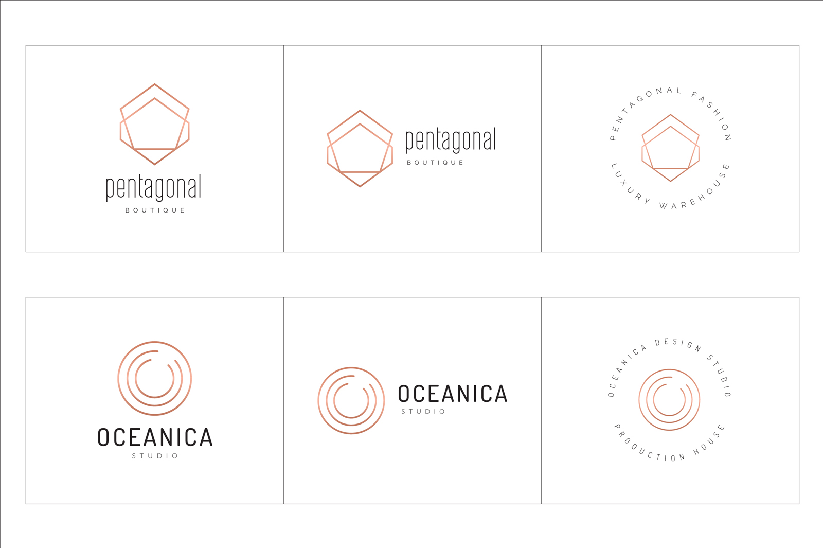 300 Geometric Premade Logo Collection