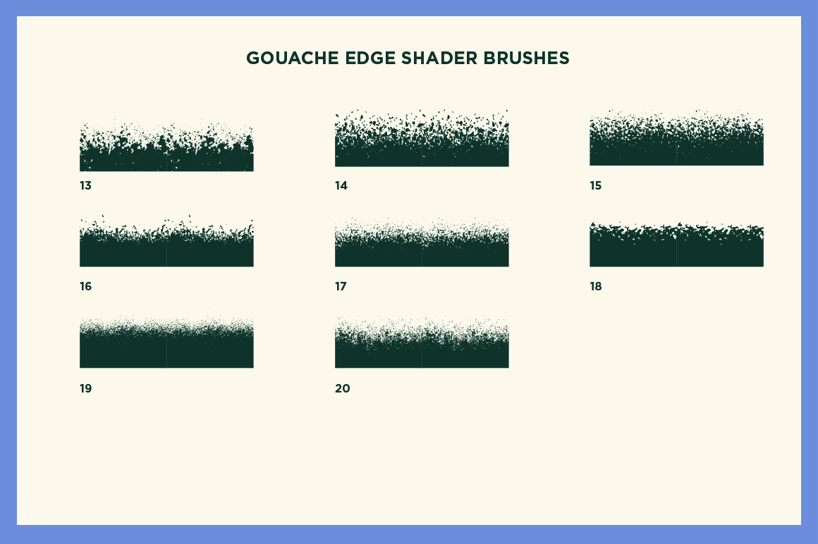 Gouache Shader Brushes for Affinity