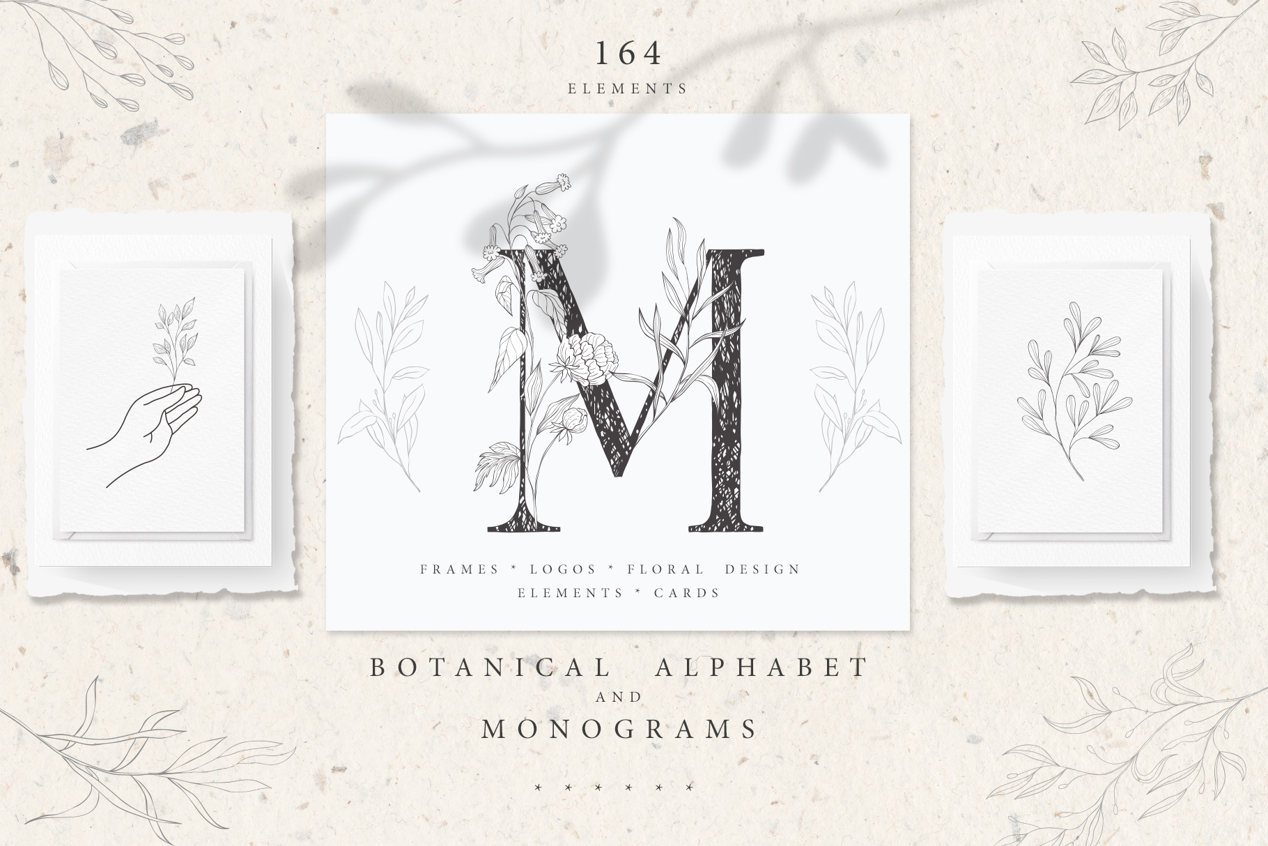 Botanical Alphabet & Monograms
