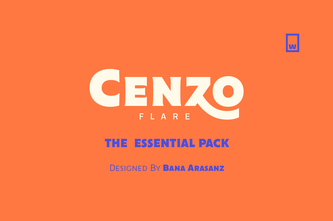 Cenzo Flare Essential Typeface