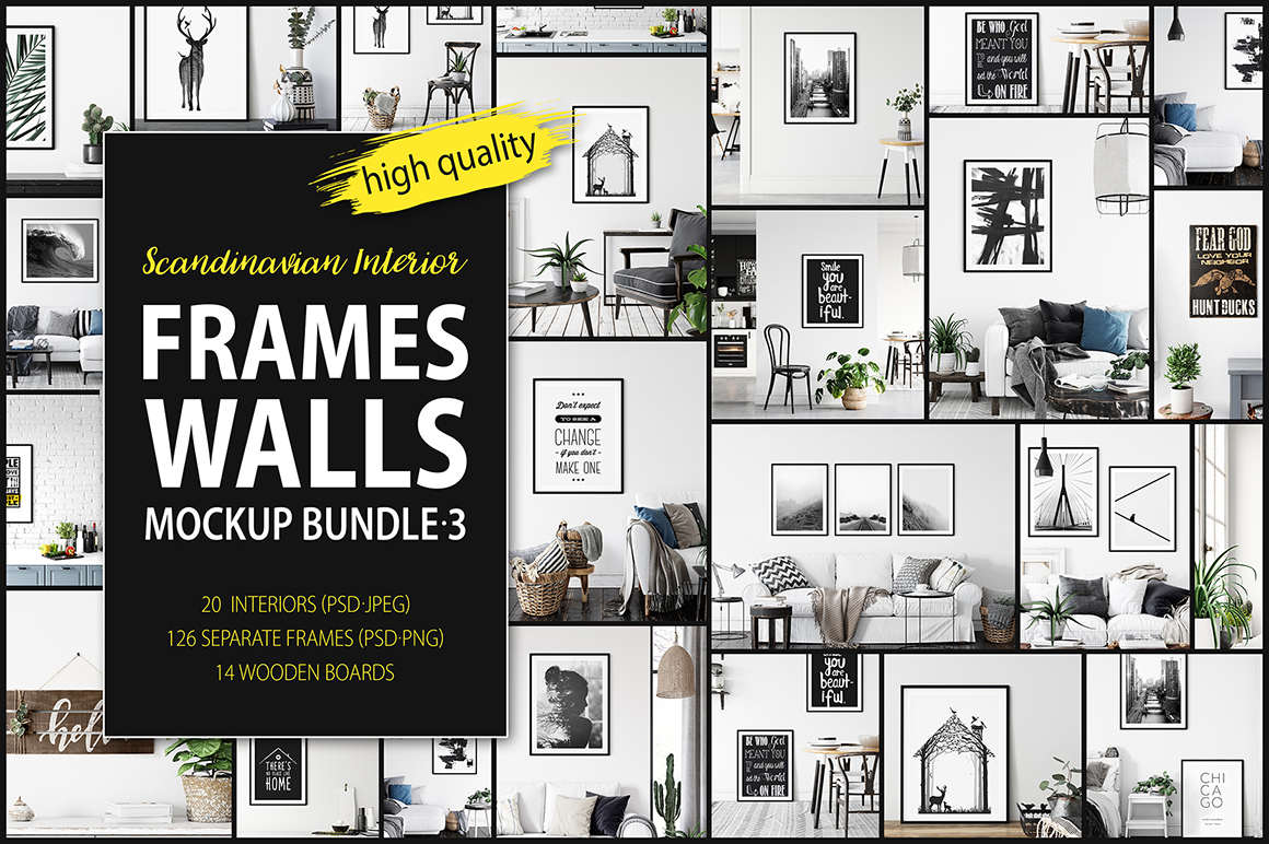 Frames & Walls Scandinavian Mockup Collection - 3