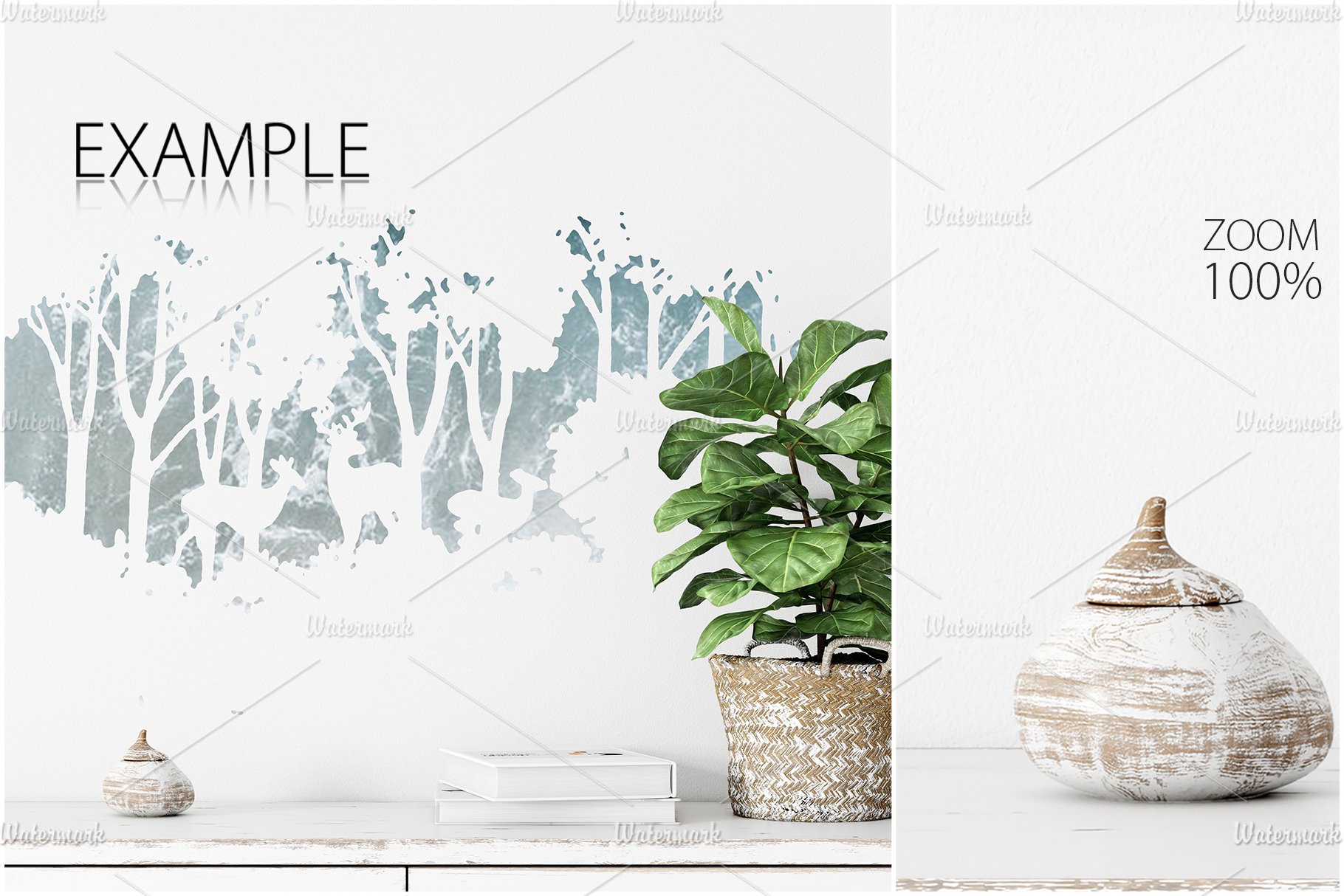 Frames & Walls Scandinavian Mockup Bundle - 3