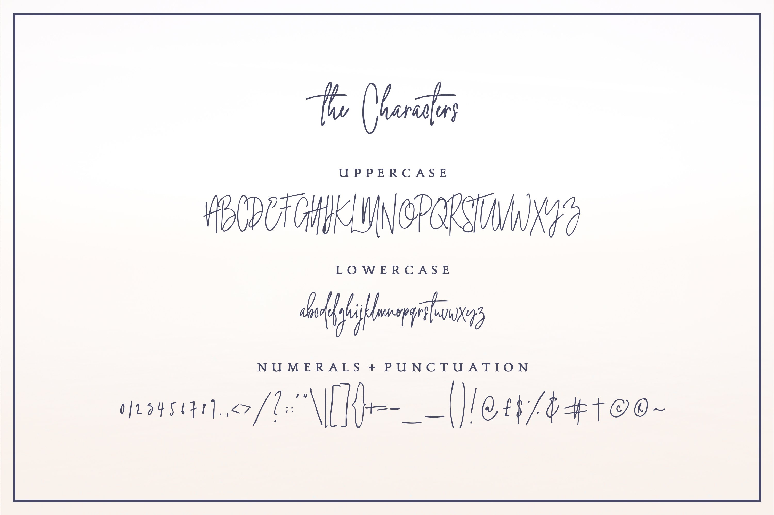 Heaven And Earth - Handwritten Font