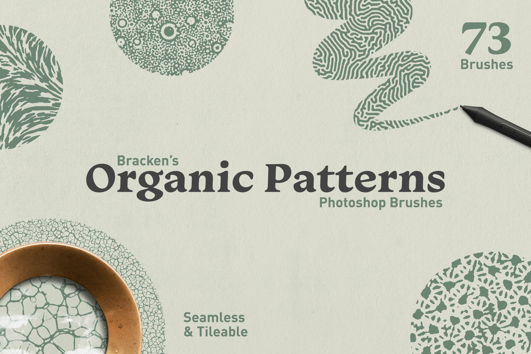 Organic Patterns - Photoshop Brushes - Design Cuts
