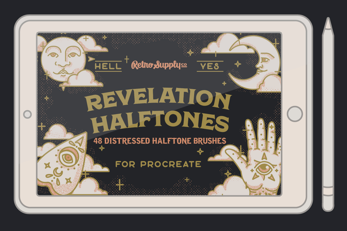Revelation Halftones for Procreate