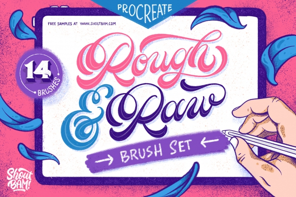 Rough & Raw - Procreate Brush Set