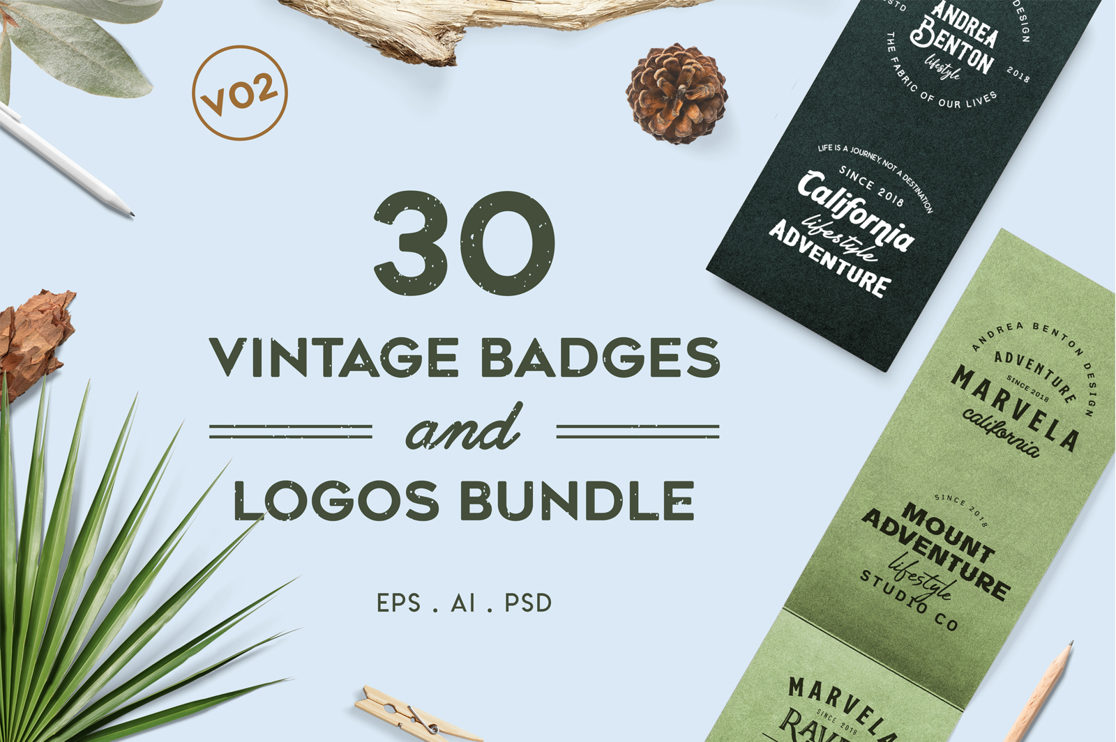 Vintage Badges And Logos Collection Version 2