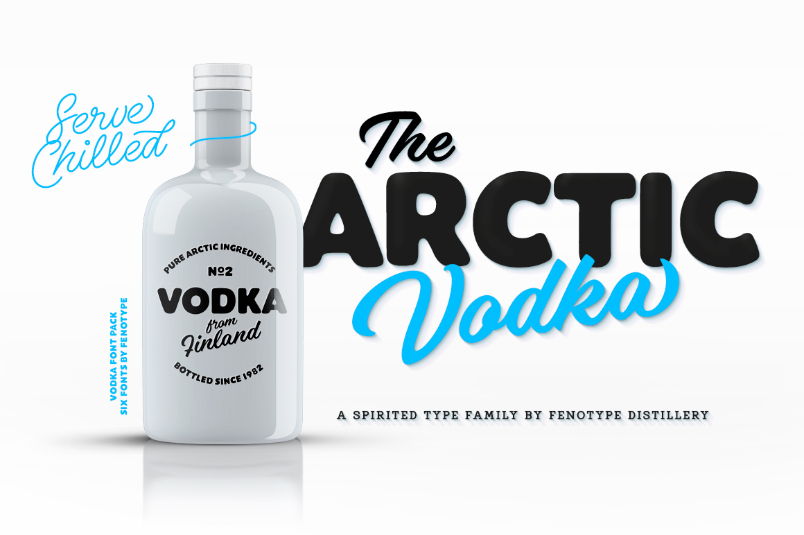 Vodka Display Font Pack