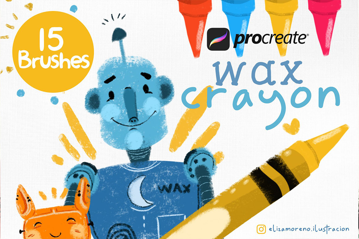Wax Crayon Brushes or Procreate