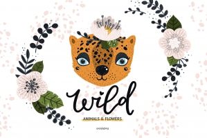 Wild Animals And Flowers