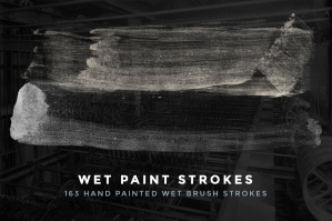 163 Wet Paint Strokes Brush Set For Photoshop