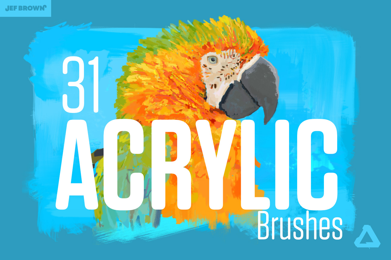 Acrylic brushes for Affinity Photo & Designer