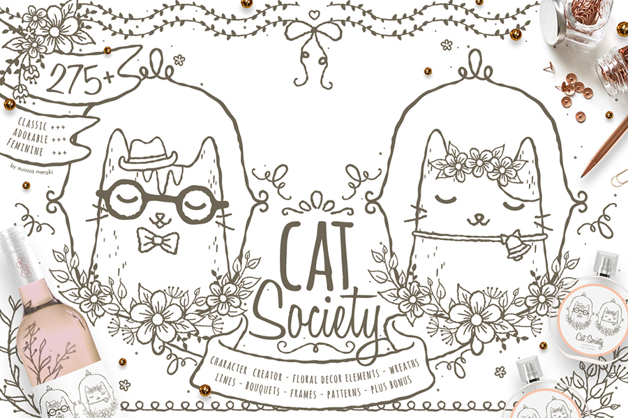 Cat Society - Cute Character Creator
