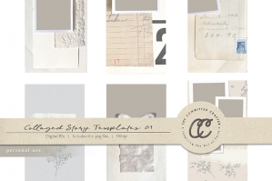 Collaged Story Templates 01