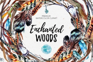 Enchanted Woods Watercolor Set