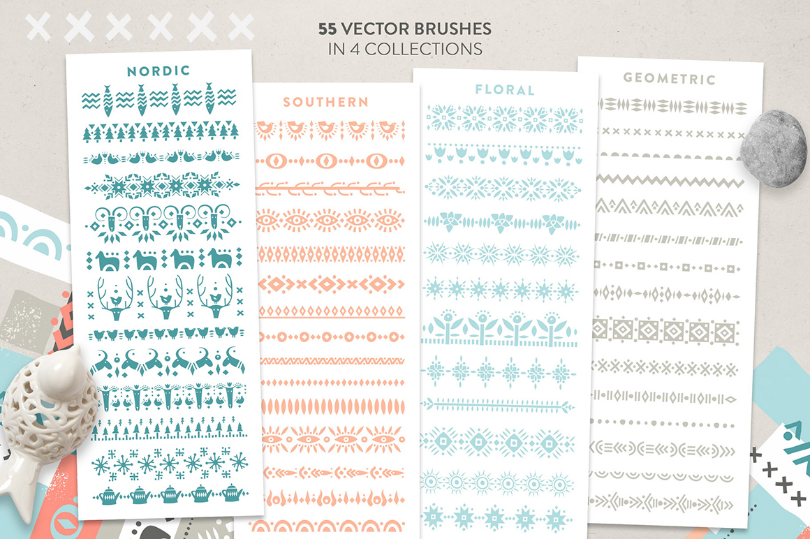 Ethnic Patterned Brushes