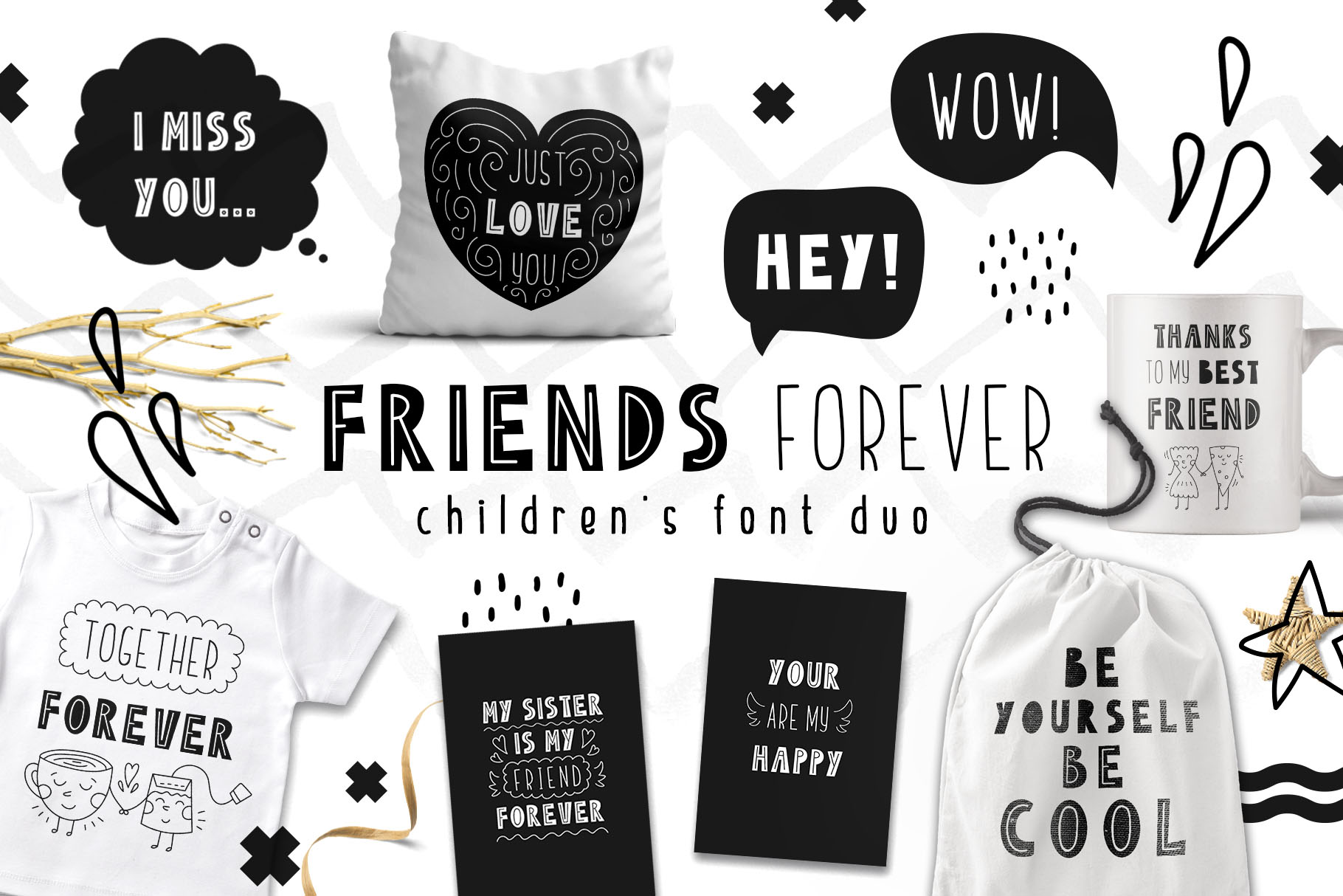 Friends Forever Font Duo