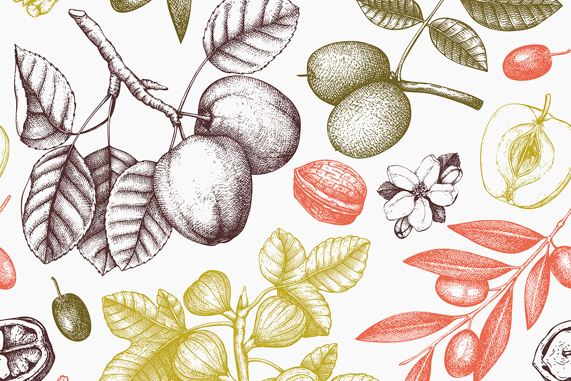 Hand Drawn Garden Trees Collection