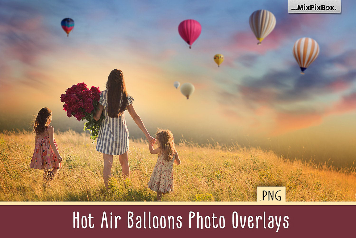 Hot Air Balloon Overlays