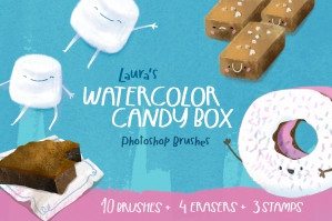 Laura's Watercolor Candy Box Brushes