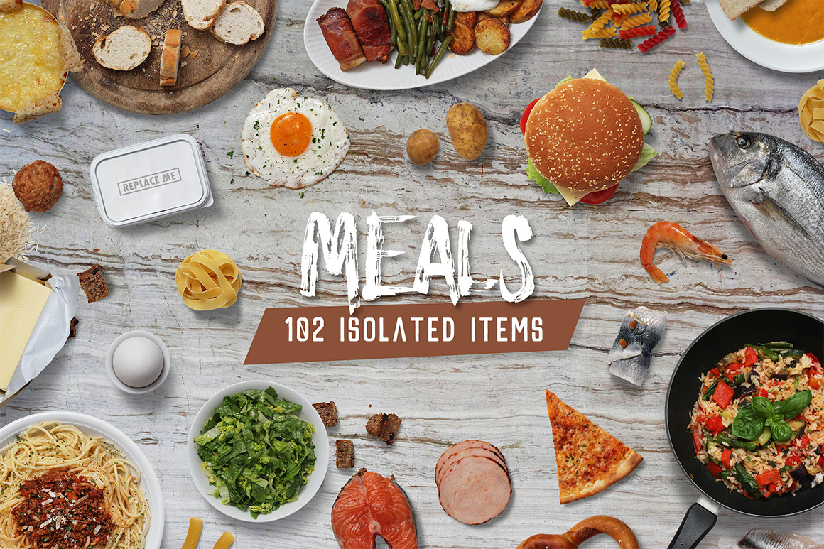 Meals - Isolated Food Items