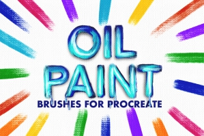 Oil Paint Brush Set
