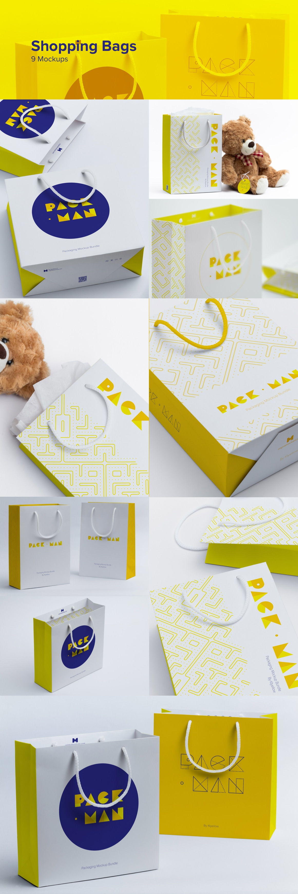 Packman Mockup Bundle