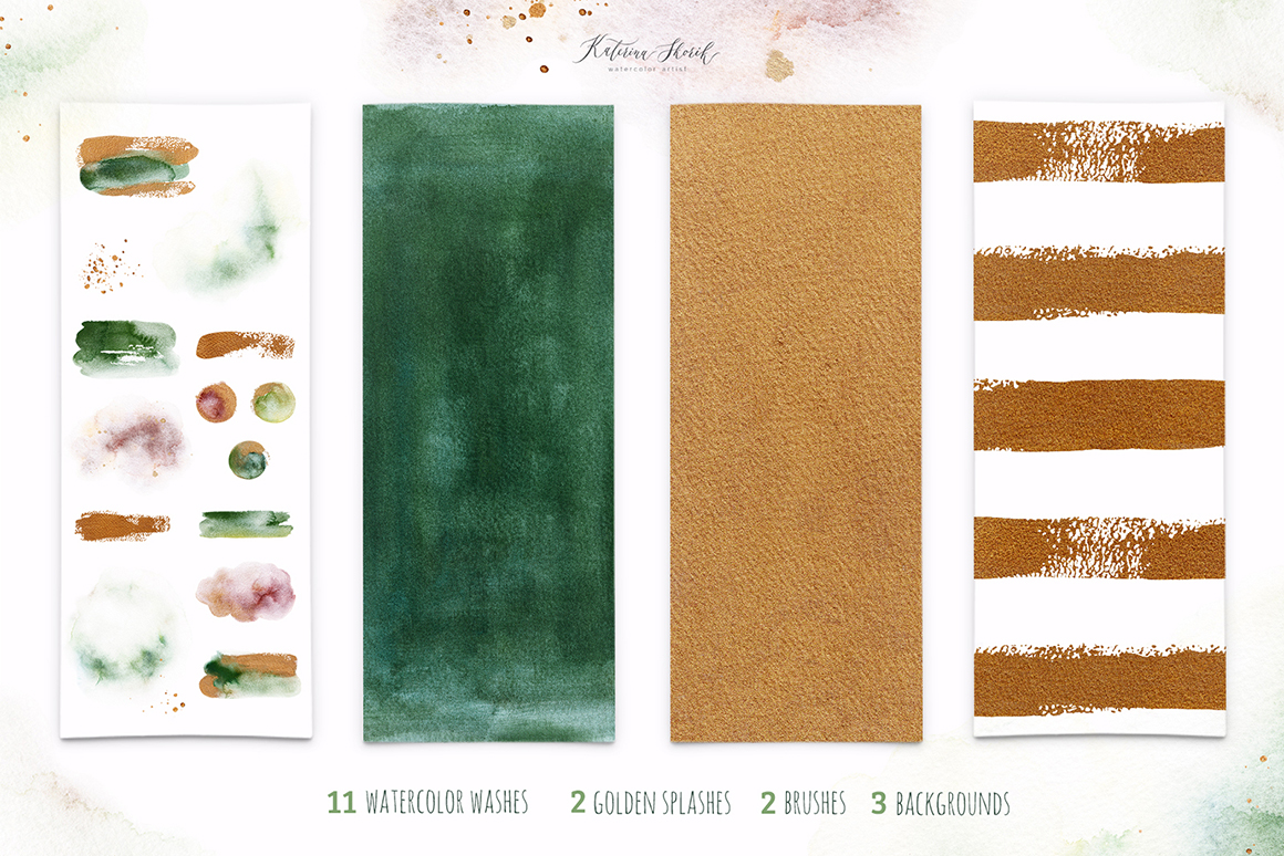 Pistachio Green Watercolor Set