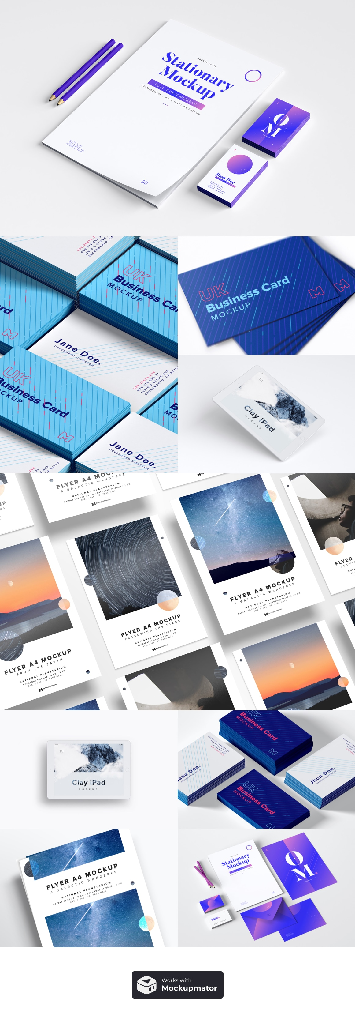 Professional Stationery Mockup Bundle