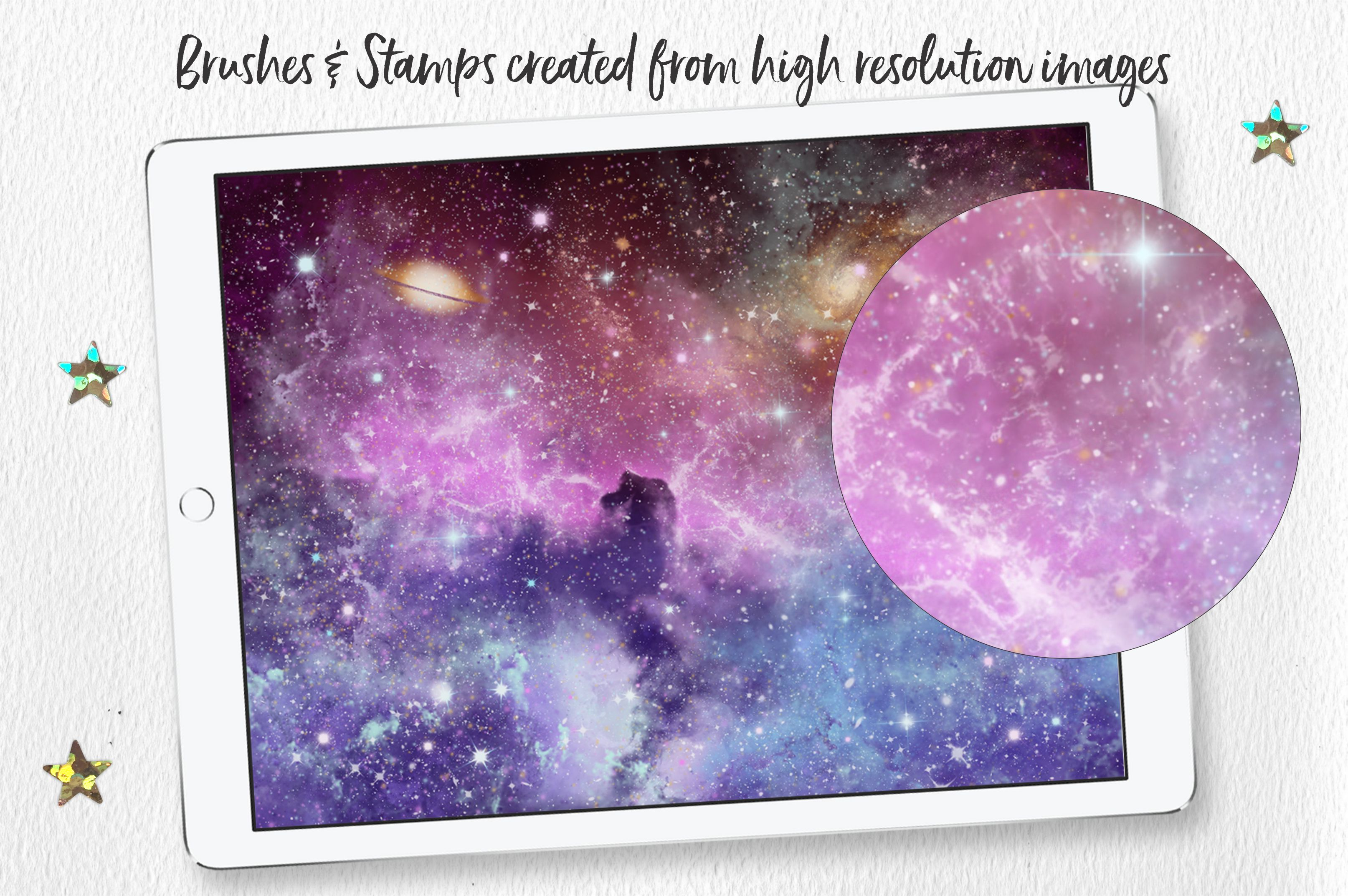 Spaced Out Brush & Stamp Set For Procreate