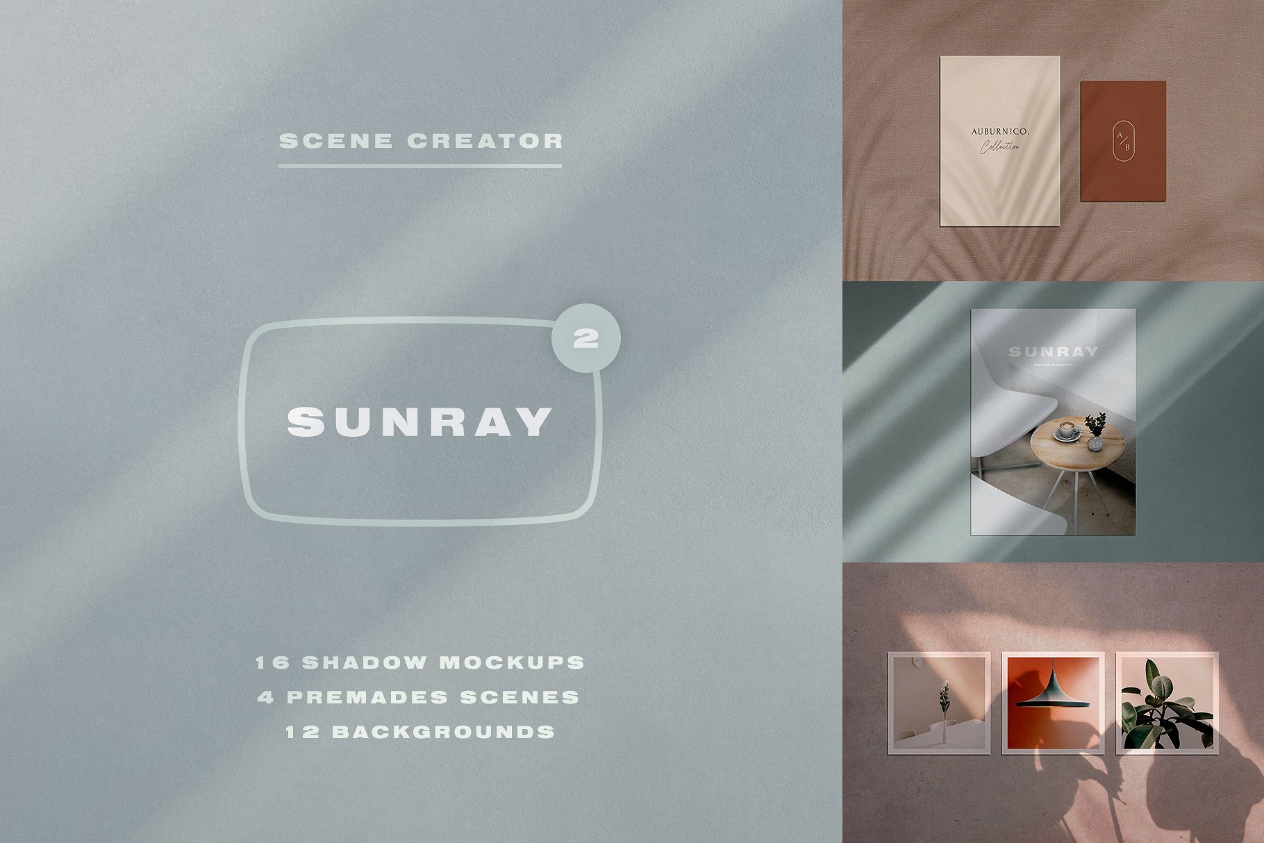 Sunray 2 - Stationery Shadow Mockups - Design Cuts