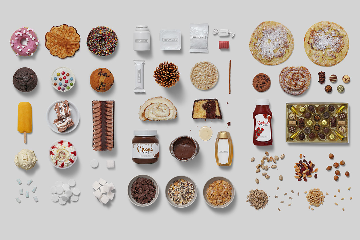 Sweets - Isolated Food Items