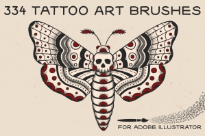Tattoo Art Brushes For Adobe Illustrator