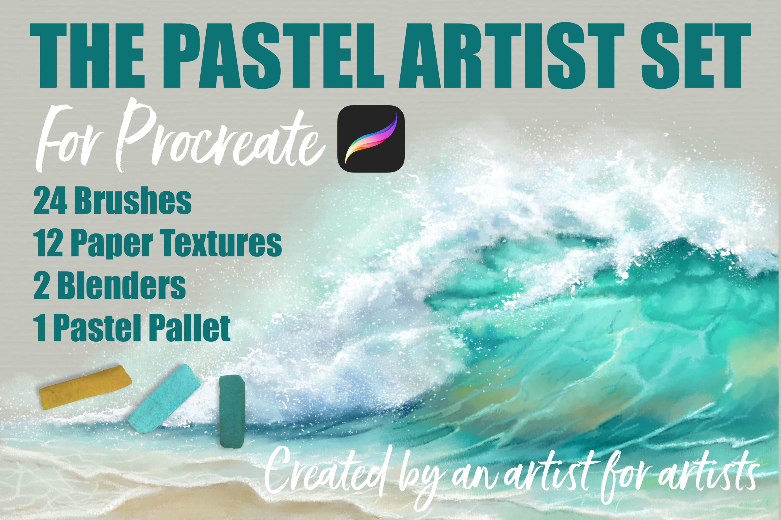 The Pastel Artist Set For Procreate