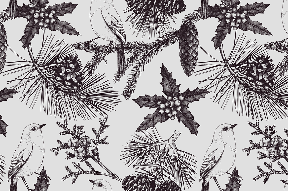 Vintage Conifers Sketch Collection