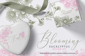 Blooming Eucalyptus Design Set