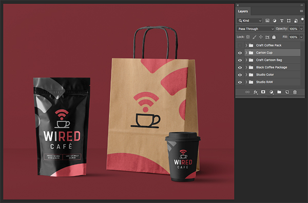 Wired Cafe Branded Packaging Design