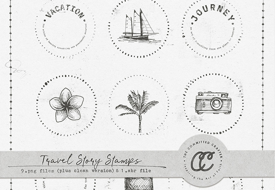 Travel Story Stamps