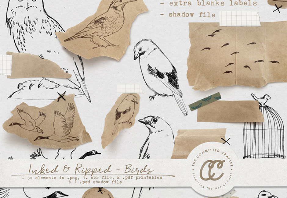 Inked & Ripped - Birds