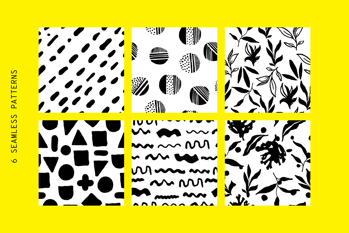 300+ Hand Drawn Shapes, Posters, Patterns
