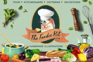 The Foodie Kit - Food Illustrations