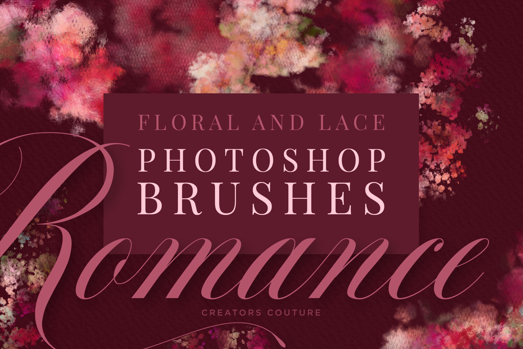 Floral And Lace Photoshop Brushes