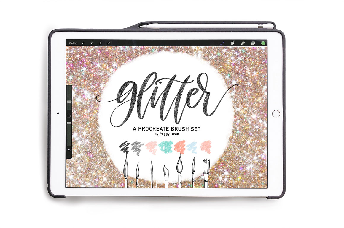 Sparkly Glitter Brush Pack for Procreate